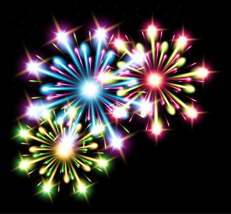 rave: fireworks color stars raster