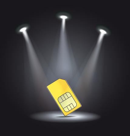 reflector light phone sim card vector Stock Vector - 33262089