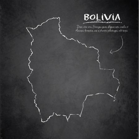 mapa de bolivia: Bolivia mapa pizarra pizarra de vectores
