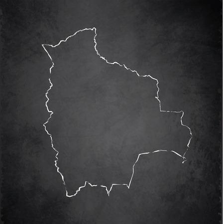 mapa de bolivia: Bolivia mapa pizarra pizarra trama Foto de archivo