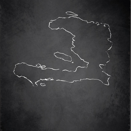 haiti: Haiti map blackboard chalkboard raster Stock Photo