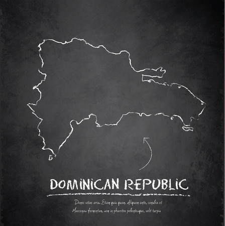 chalky: Dominican Republic map blackboard chalkboard vector