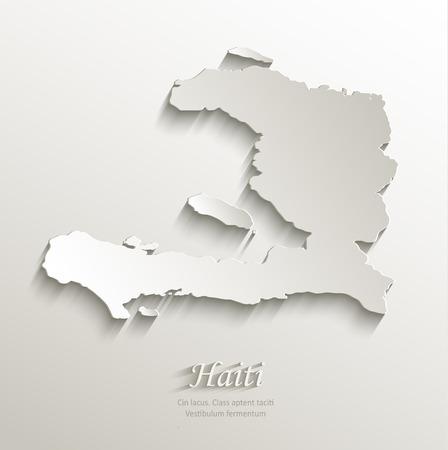 antilles: Haiti map card paper 3D natural vector