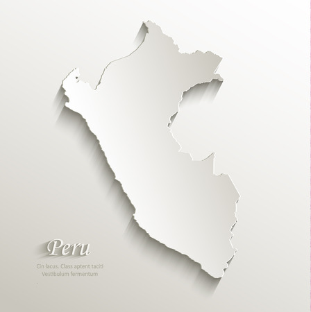 mapa del peru: Papel Perú tarjeta mapa 3D vector natural