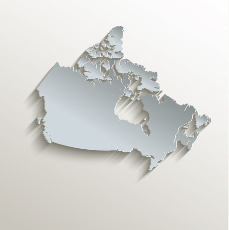 worldrn: Canada map white blue card paper 3D raster