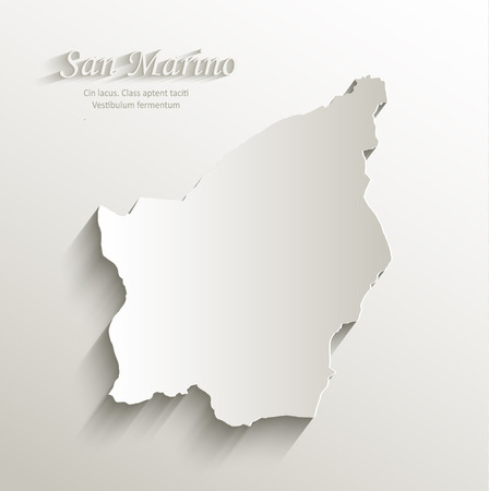 san marino: San Marino map card paper 3D natural vector Illustration