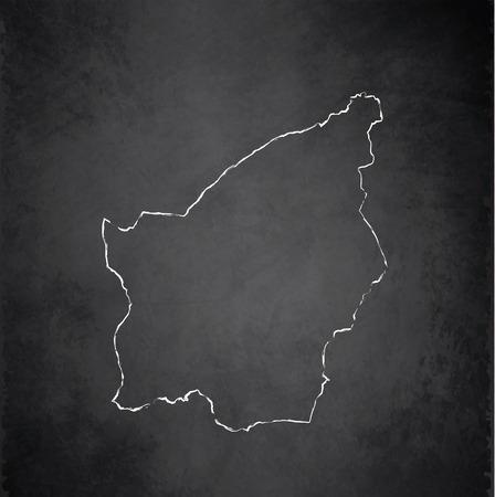 smallest: San Marino map blackboard chalkboard raster