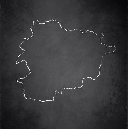 raster: Andorra map chalkboard blackboard raster