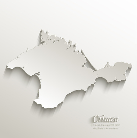 papery: Crimea map card paper 3D natural vector