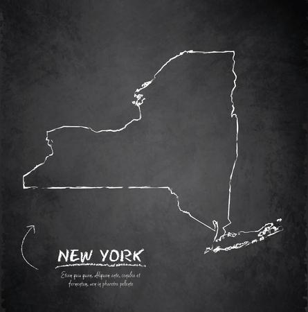 New York map blackboard chalkboard vector Vector