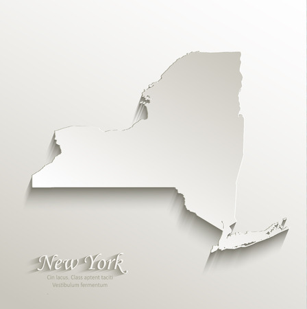 New York map card paper 3D natural vector Vector