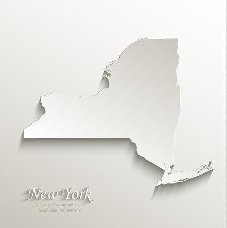 New York map card paper 3D natural vector Vector