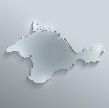raster: Crimea map glass card paper 3D raster