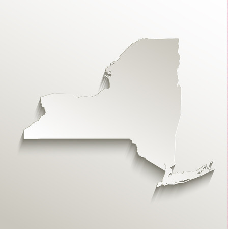 papery: New York map card paper 3D natural raster