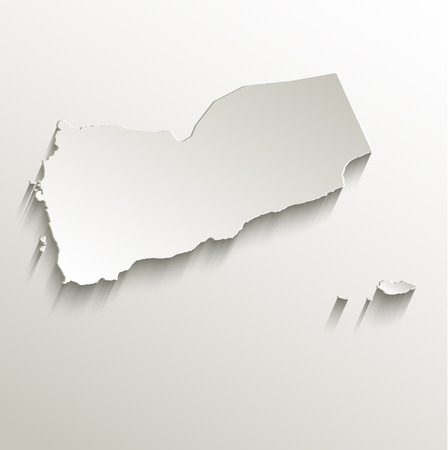 papery: Yemen map card paper 3D raster natural