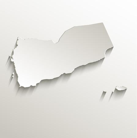 raster: Yemen map card paper 3D raster natural