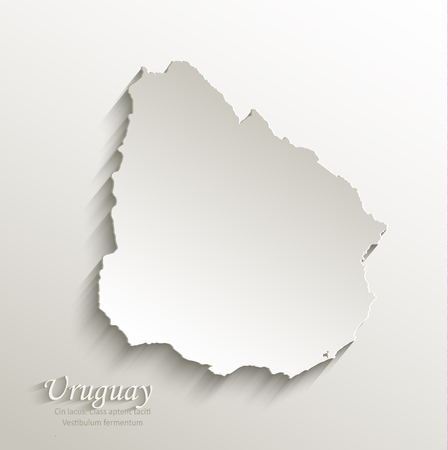 papery: Uruguay map card paper 3D natural Illustration