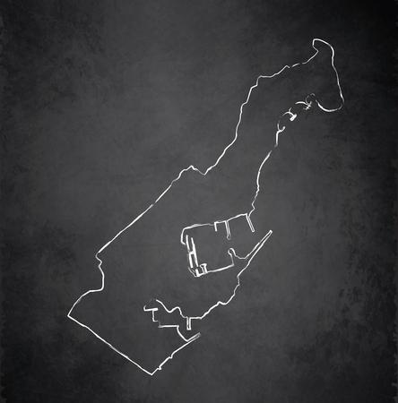 monaco: Monaco map blackboard chalkboard raster