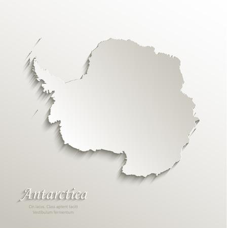 antarctica: Antarctica map card paper 3D natural vector