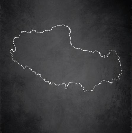 tibet: Tibet map blackboard chalkboard raster