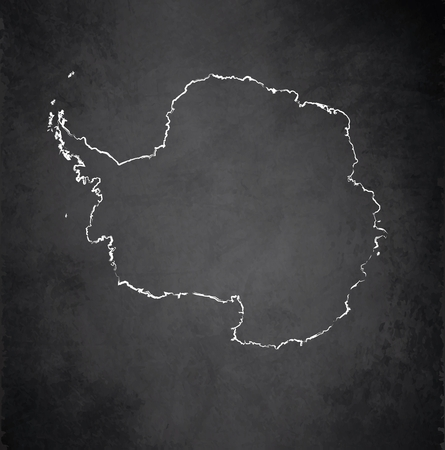 Antarctica map blackboard chalkboard vector Stock Photo