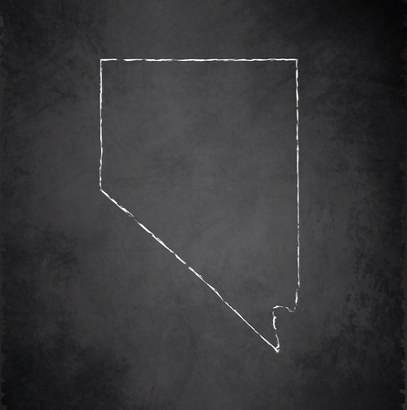 raster: Nevada map blackboard chalkboard raster