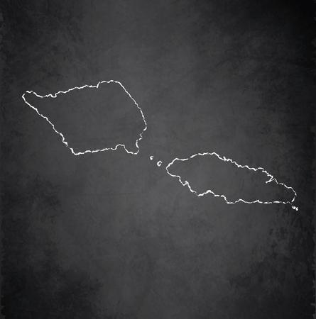 samoa: Samoa map blackboard chalkboard raster