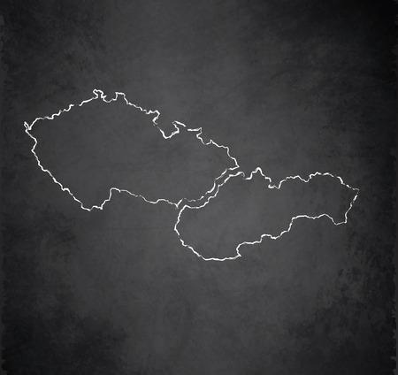 czech: Czech Slovakia blackboard chalkboard raster maps Czechoslovakia Separate maps