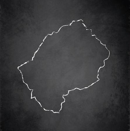 raster: Lesotho map chalkboard blackboard raster