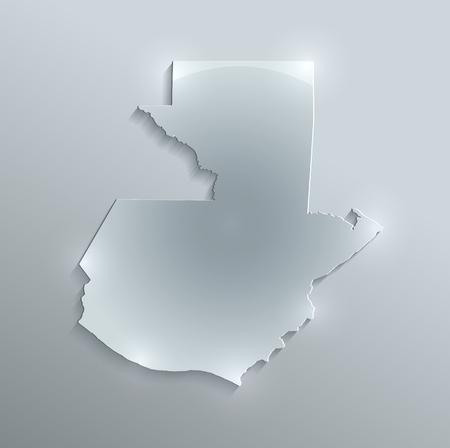 glass paper: Guatemala map glass card paper 3D raster