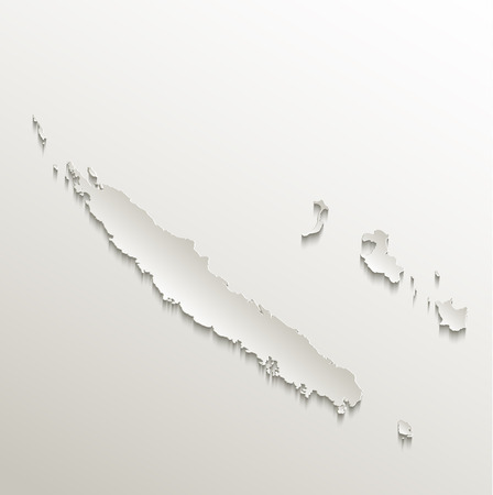 plastic backdrop: New Caledonia map card paper 3D natural raster