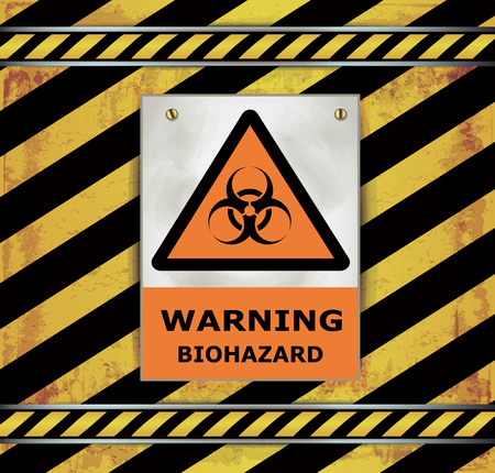 toxins: Sign caution blackboard vector biohazard warning