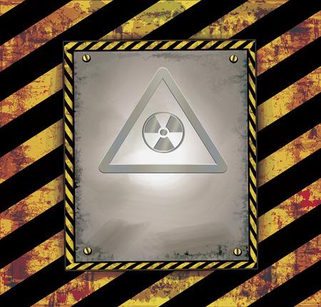 vector raster background: blackboard caution sign warning banner radioactive raster