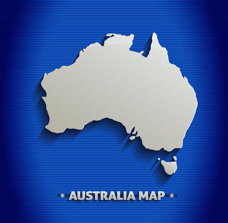 Australie carte ligne bleue 3D