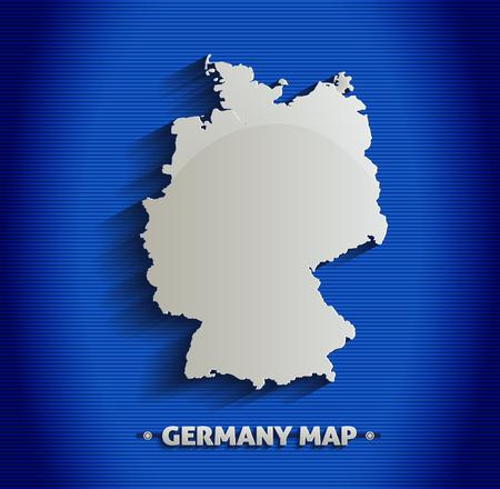 Germany map blue line 3D