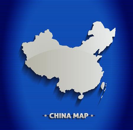north china: China map blue line 3D