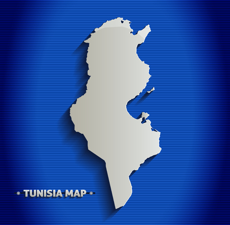 lines abstract: Tunisia blue line 3D map  Illustration