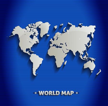 europe map: World map blue line 3D