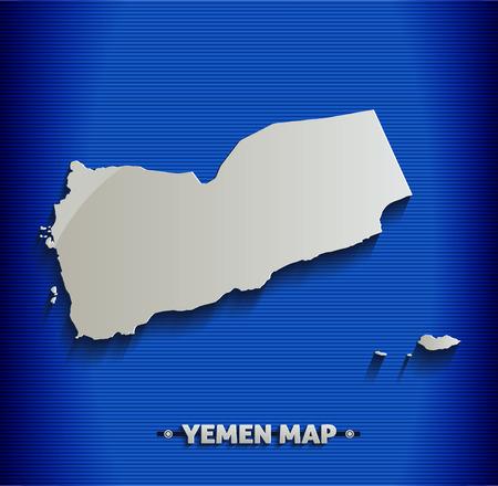yemen: Yemen map blue line 3D