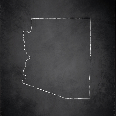 raster: Arizona map chalkboard blackboard raster