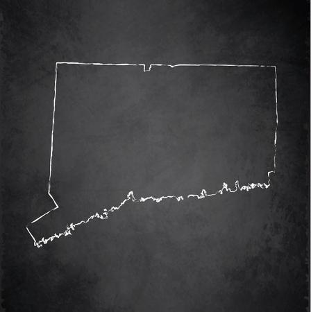 raster: Connecticut map chalkboard blackboard raster