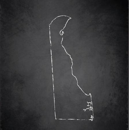 raster: Delaware maps blackboard chalkboard raster Stock Photo