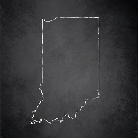 indiana: Indiana blackboard chalkboard raster maps Stock Photo