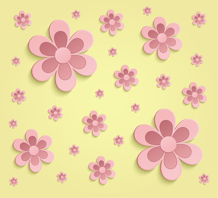 Spring flowers 3d yellow paper pink wallpaper raster stock photo spring flowers 3d yellow paper pink wallpaper raster stock photo 53801389 mightylinksfo