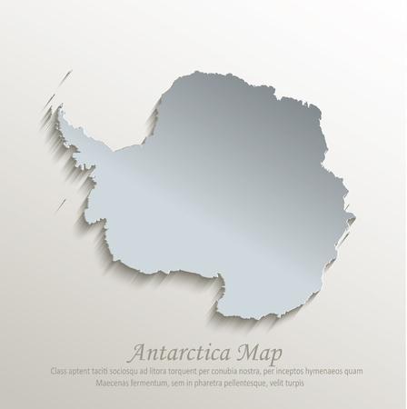 antarctica: Antarctica map blue white card paper 3D