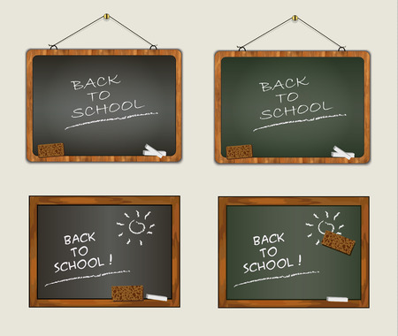 scholastic: collection blackboard back to school wood frame chalk