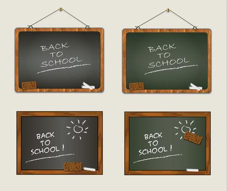 wood frame: collection blackboard back to school wood frame chalk