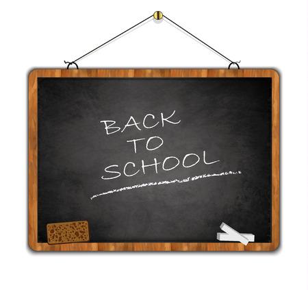 scholastic: grunge blackboard, back to school, wood frame black smudge