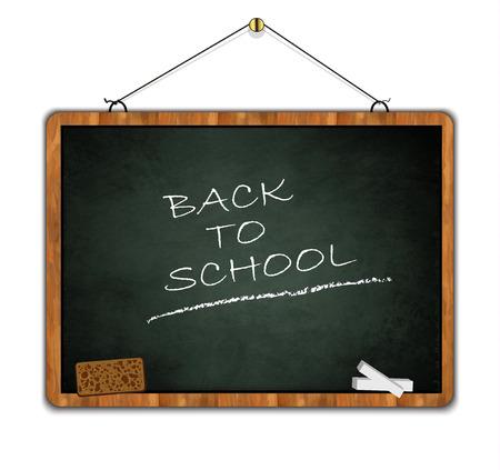 wood frame: grunge blackboard, back to school, wood frame green smudge