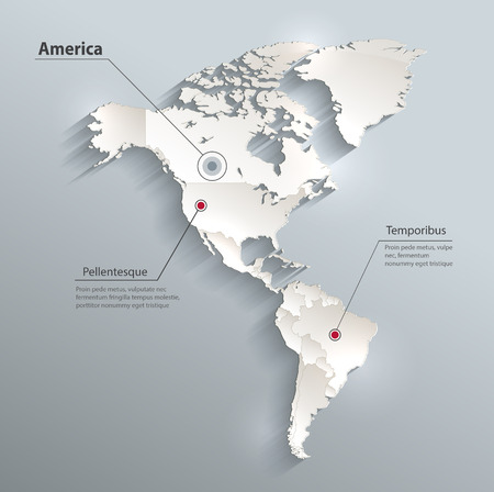 continental united states: America political map 3D